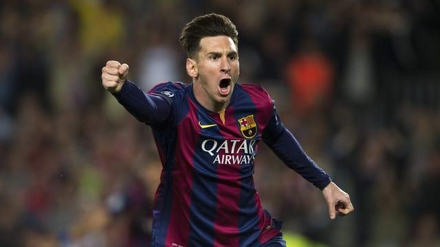 Lionel Messi giubilescha.