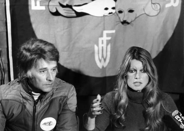Franz Weber und Brigitte Bardot in Kanada.