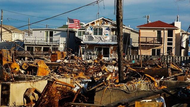 Die Zerstörungen des Orkans Sandy sind noch immer sichtbar.