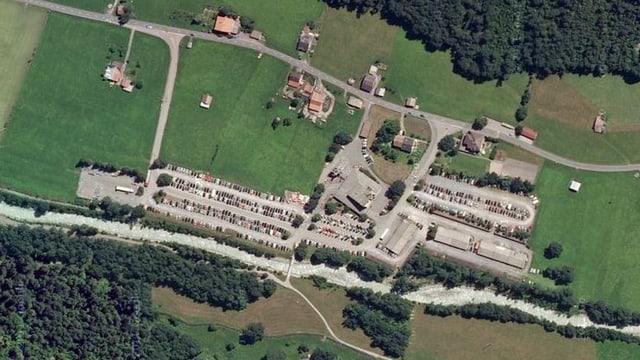 Luftaufnahme der Talstation