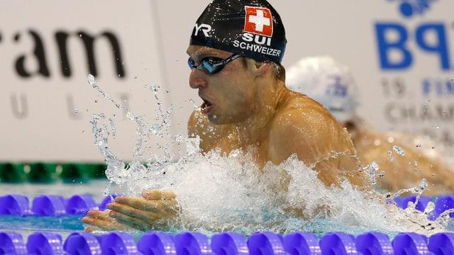 Martin Schweizer im Wasser