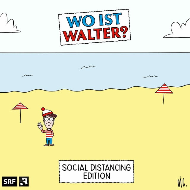Wo ist Walter? Social Distancing Edition