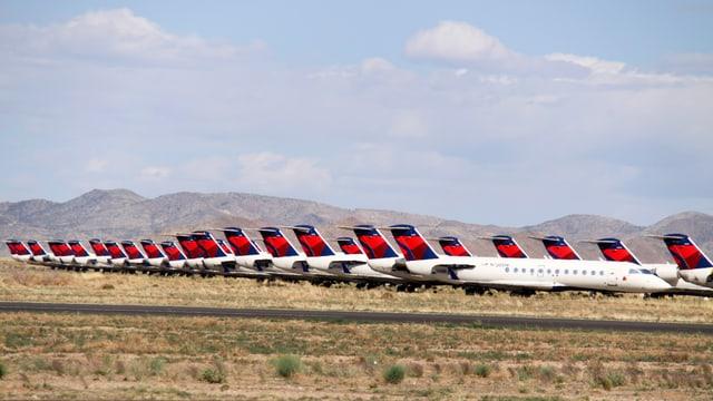 Flugzeugfriedhof in Arizona