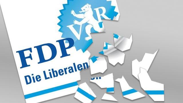 FDP-Logo zerbröckelt