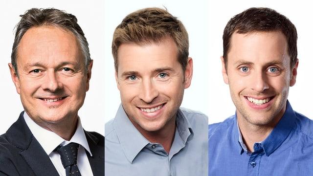 Im Chat (von links): Thomas Bucheli, Jan Eitel und Gaudenz Flury.