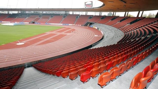 Das leere Stadion Letzigrund in Zürich.