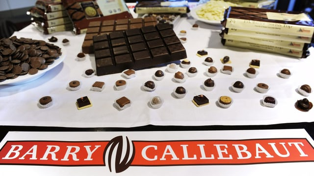Barry Callebaut-Schaufenster.