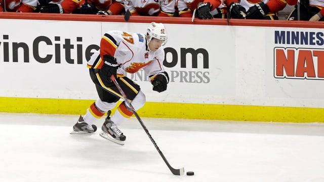 Sven Bärtschi verlässt Calgary in Richtung Vanvouver.
