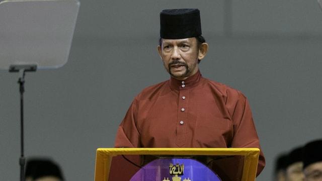 Der Sultan von Brunei, Hassanal Bolkiah,