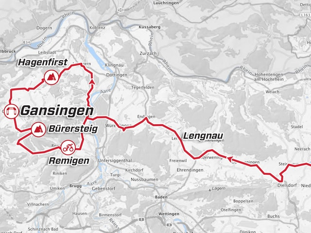 Karte der 3. Etappe