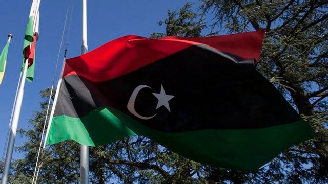 La bandiera da la Libia.