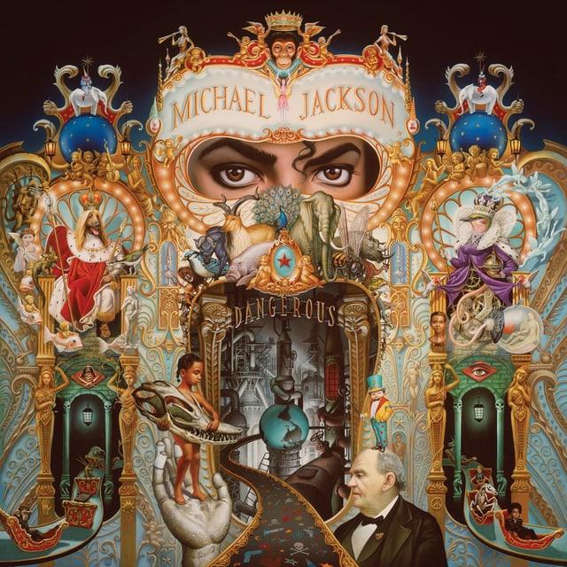 Ein zirkusartiges Bild von Michael Jackson.