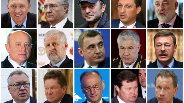 Prominente Namen auf der Sanktionsliste