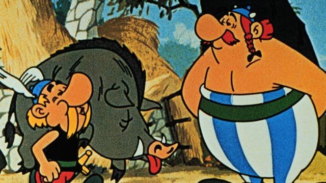 Asterix und Obelix im Zeichentrickfilm «Asterix der Gallier»