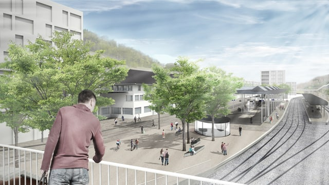 Visualisierung des Bahnhofplatzes Herisau