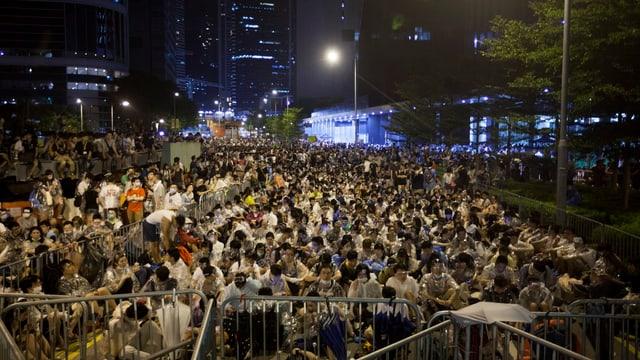 Sitzstreik vor dem Regierungshauptsitz in Hongkong.