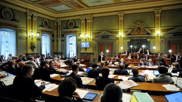 St. Galler Kantonsratssaal während einer Session