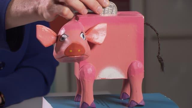 Trauriges Sparschwein.