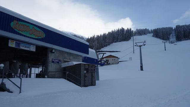 La staziun da val a Spleia ils 28 d'avrigl 2017.