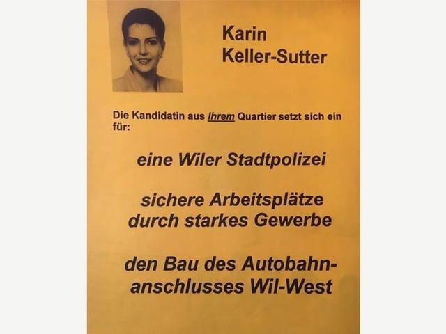 Wahlkampfplakat von KKS 1991