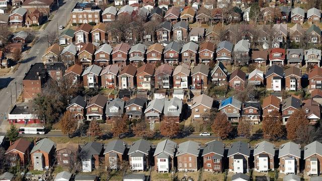 Häuser in US-Wohngebiet.