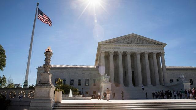 Aussenaufname des US-Supreme Courts in Washington.