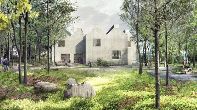 Visualisierung des neuen Parks des Naturmuseums St. Gallen.