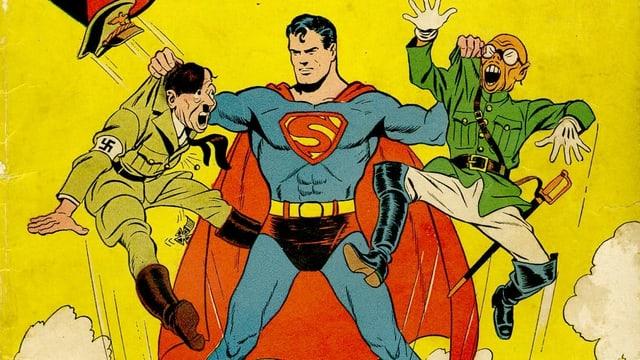 Superman packt Hitler und Hirohito