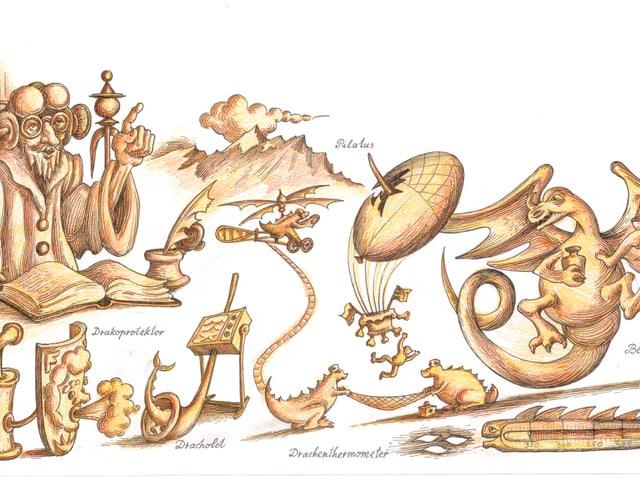 Ilustration aus dem Drachen-Buch