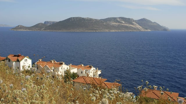 Sicht auf die Insel Kastelorizo.