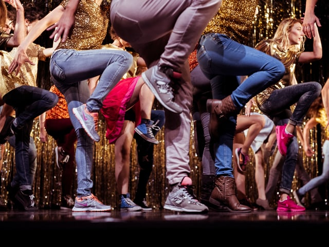 Tänzerinnen und Tänzer der produktion «Sound of Music»