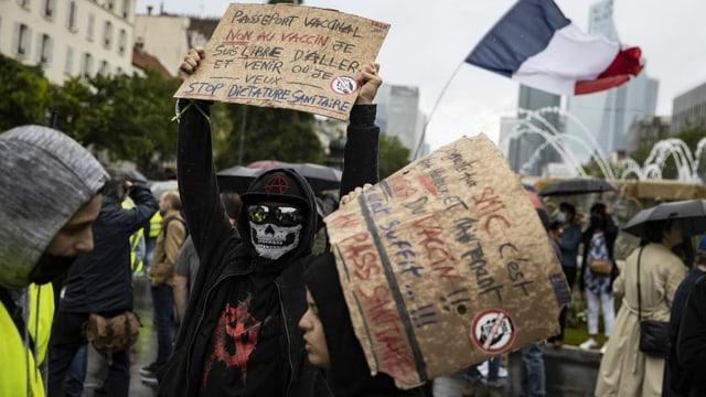 Demonstranten in Paris