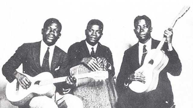 Das Cover der in London eingespielten Platte des Kumasi-Trio.