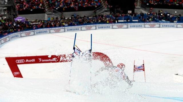 il skiunz Bode Miller durant ina cursa a Lai.