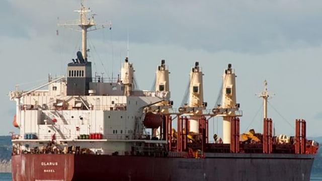 Das Frachtschiff «Glarus» vor der Küste Nigerias.
