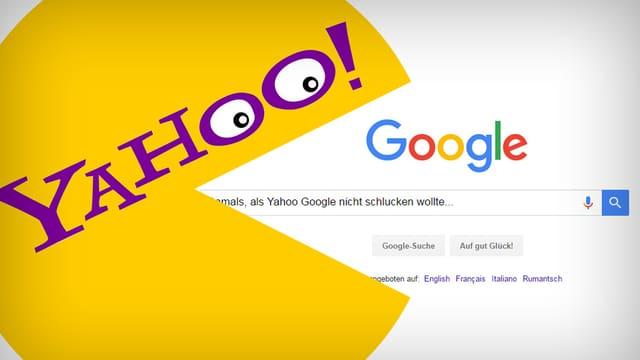 Yahoo und Google-Logos
