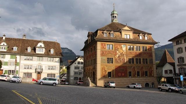 Das Rathaus Schwyz von aussen.