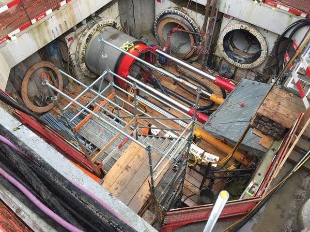 Blick in das Tunnelsystem von Circulago