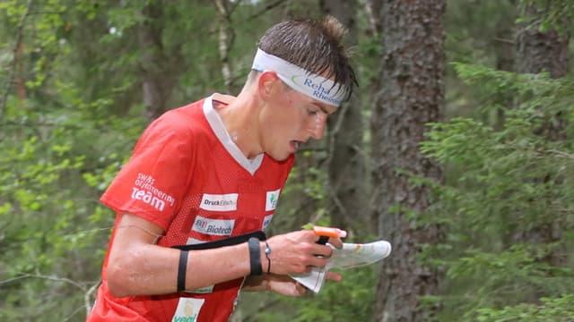 Matthias Kyburz während dem Rennen