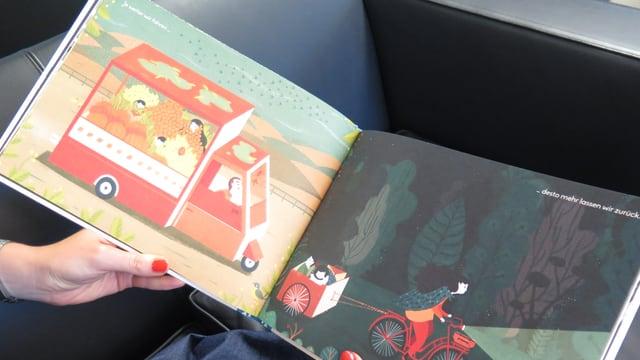 Eine Seite aus dem Kinderbuch «Die Flucht» von Francesca Sanna