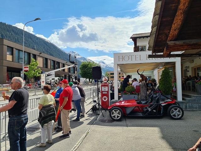 Dasper l'arrivada dal Tour de Suisse a Sedrun.