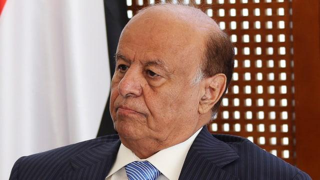 Porträtbild von Jemens Präsident Abed Rabbo Mansur Hadi