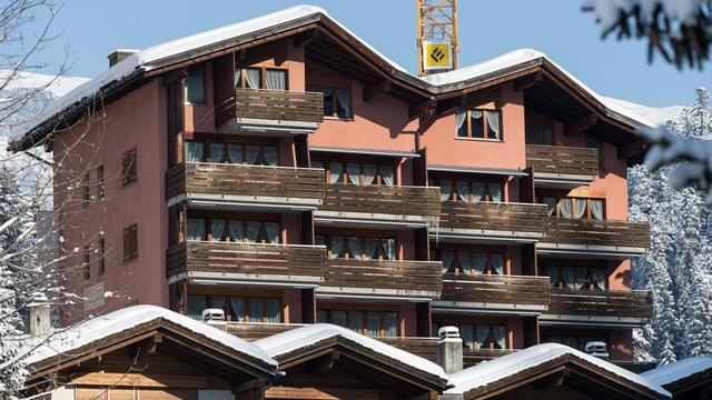 Hotel Rustico in Laax steht leer.