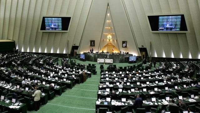 Blick in den Parlamentssaal.