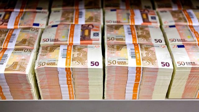Eine Schublade voller Euros.