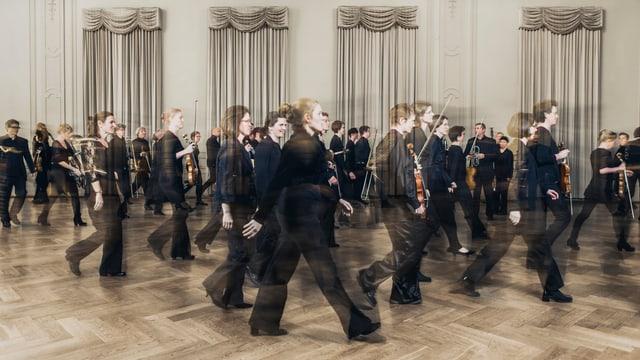 Die Musikerinnen und Musiker des Orchesters «Basel Sinfonietta».