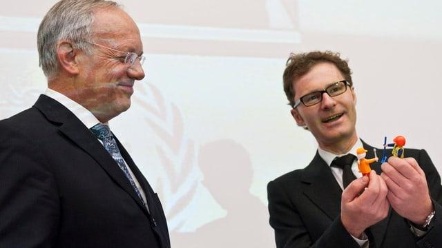 Schneider-Ammann und Daniel Lampart