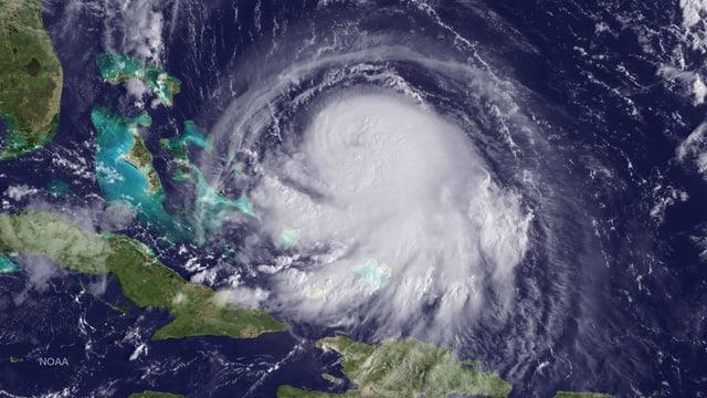 Der Sturm Joaquin auf einem Satellitenbild
