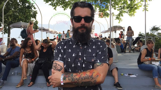 Andi Rohrer am Montreux Jazz Festival.