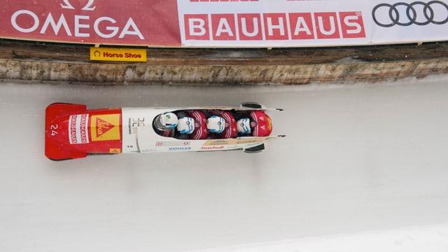 Rico Peter steuert an der WM in St. Moritz auf die Bronzemedaille zu.